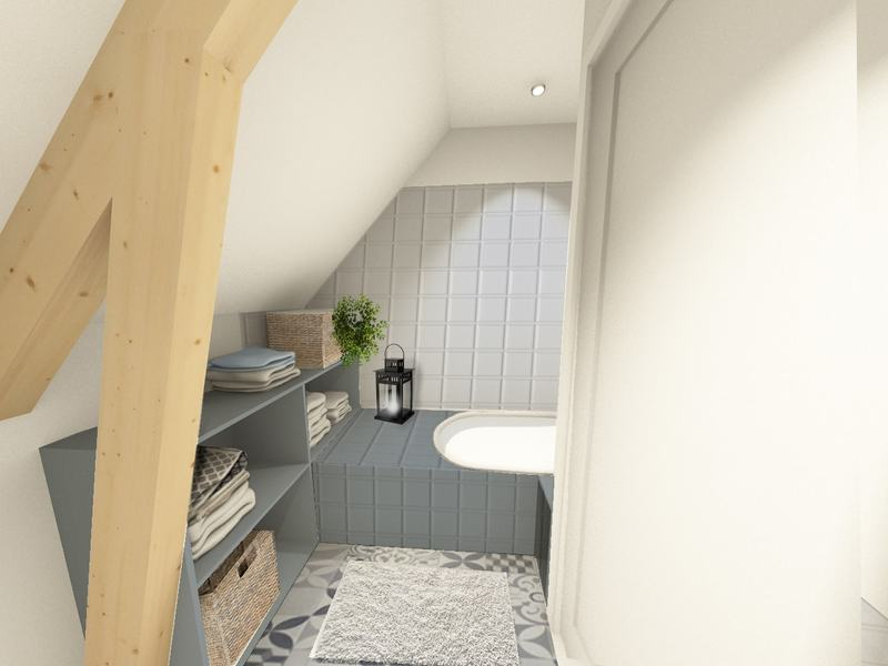 Une salle de bain scandinave rafraîchissante